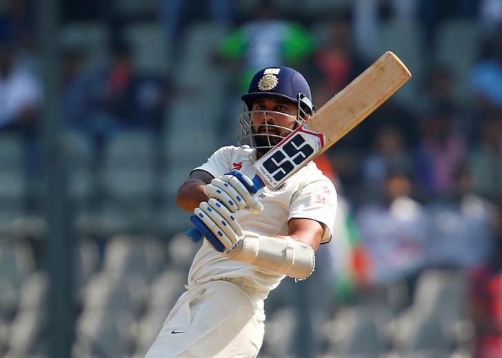 Cricket - India v England - Fourth Test cricket match - Wankhede Stadium, Mumbai, India - 10/12/16. India's Murali Vijay plays a shot. REUTERS/Danish Siddiqui
