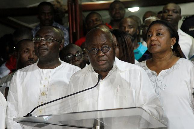 Ghana's president-elect Nana Akufo-Addo of the opposition New Patriotic Party (NPP) speaks during a news conference at his home in Accra, Ghana, December 9, 2016. REUTERS/Luc Gnago