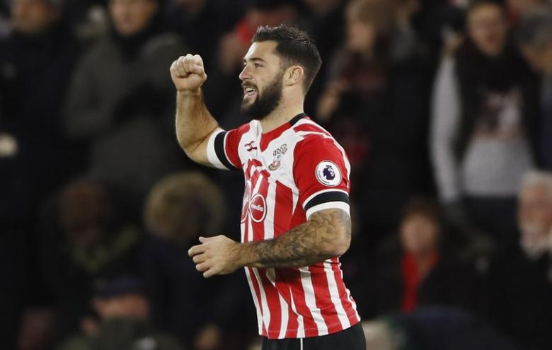 Britain Football Soccer - Southampton v Everton - Premier League - St Mary's Stadium - 27/11/16 Southampton's Charlie Austin celebrates scoring their first goal  Reuters / Stefan Wermuth Livepic