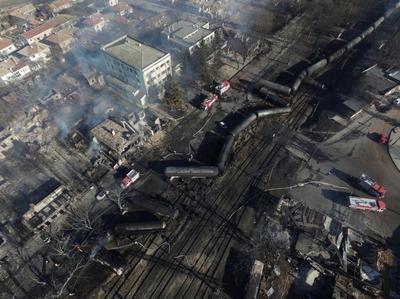 Cargo train explodes in Bulgaria