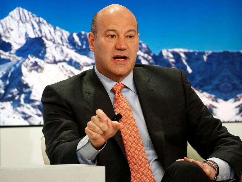 FILE PHOTO: Gary Cohn, President and Chief Operating Officer of Goldman Sachs, speaks at the Ending the Experiment event in the Swiss mountain resort of Davos, Switzerland January 22, 2015.   REUTERS/Ruben Sprich/File Photo