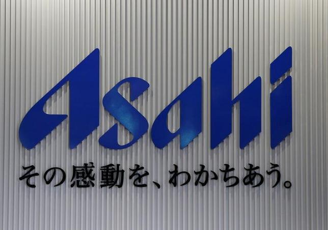 The logo of the Asahi Breweries is seen at the Asahi Ibaraki Brewery in Moriya, Ibaraki prefecture, Japan, April 7, 2016. REUTERS/Yuya Shino/File Photo