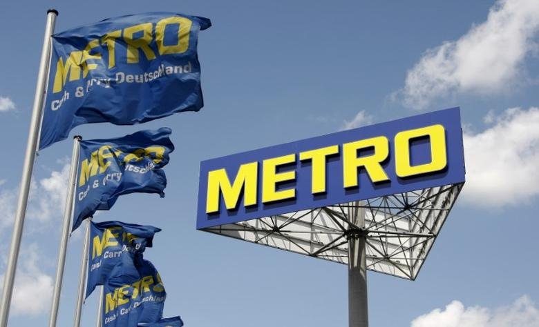 The logo of Germany's biggest retailer Metro AG is pictured at a Metro cash and carry in Berlin in this June 10, 2009 file photo. REUTERS/Fabrizio Bensch/Files