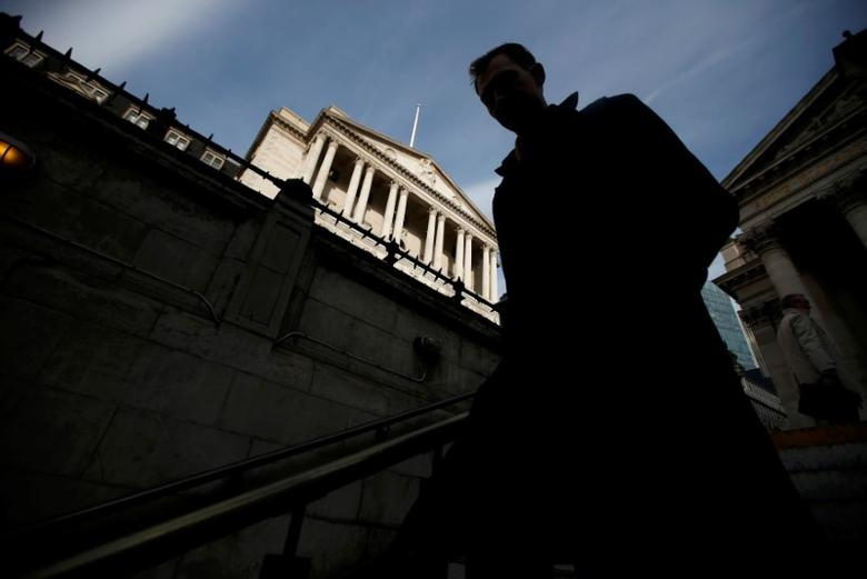 A man walks into Bank Underground station outside the Bank of England in the City of London, Britain, November 3, 2016. REUTERS/Peter Nicholls/File Photo