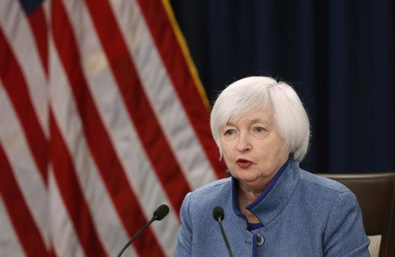 Federal Reserve  Chair Janet Yellen holds a news conference following day two of the Federal Open Market Committee (FOMC) meeting in Washington, U.S., December 14, 2016.  REUTERS/Gary Cameron  - RTX2V23E