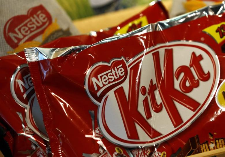 A bag of KitKat chocolates at the headquarters of world food giant Nestle in Vevey October 16, 2014. REUTERS/Denis Balibouse