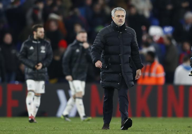 Britain Football Soccer - Crystal Palace v Manchester United - Premier League - Selhurst Park - 14/12/16 Manchester United manager Jose Mourinho celebrates after the game Reuters / Stefan Wermuth Livepic/Files