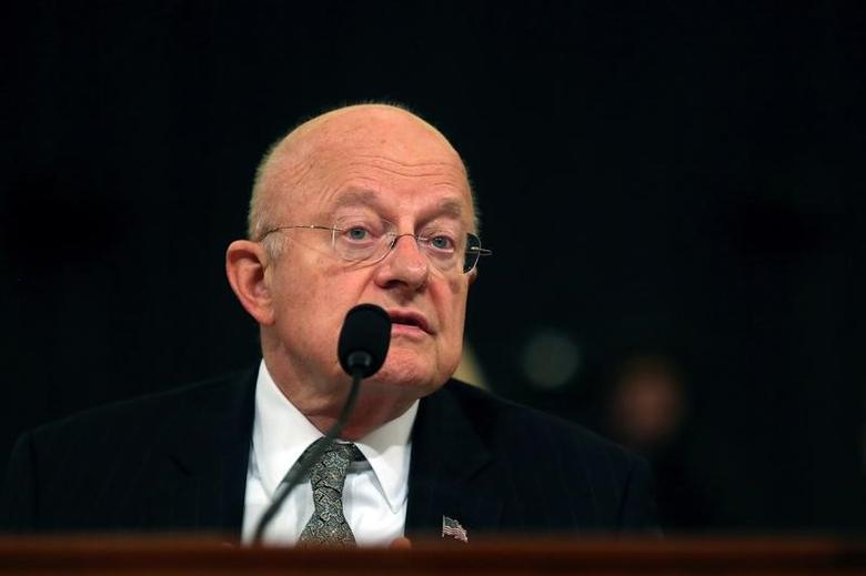 U.S. Director of National Intelligence James Clapper attends a hearing, where he announced his resignation, in Capitol Hill in Washington, DC, U.S. November 17, 2016. REUTERS/Carlos Barria