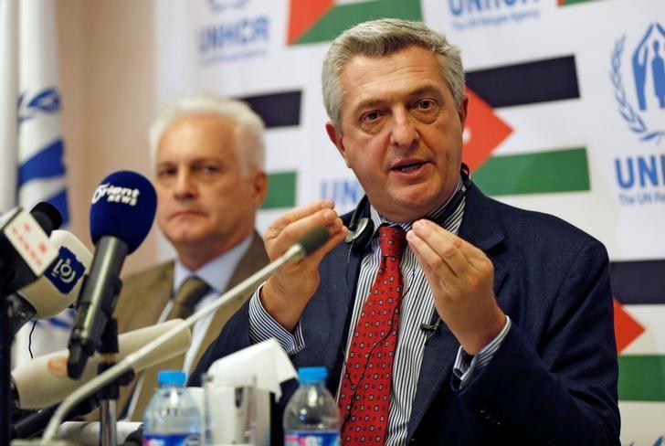 U.N. High Commissioner for Refugees Filippo Grandi speaks during a news conference in Amman, Jordan, October 24, 2016. REUTERS/Muhammad Hamed/Files
