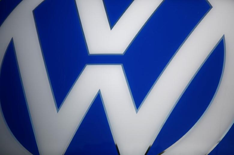 A Volkswagen logo is pictured at the newly opened Volkswagen factory in Wrzesnia near Poznan, Poland September 9, 2016. German car manufacture company officially open factory in Wrzesnia on October 24, 2016. Picture taken on September 9, 2016. REUTERS/Kacper Pempel