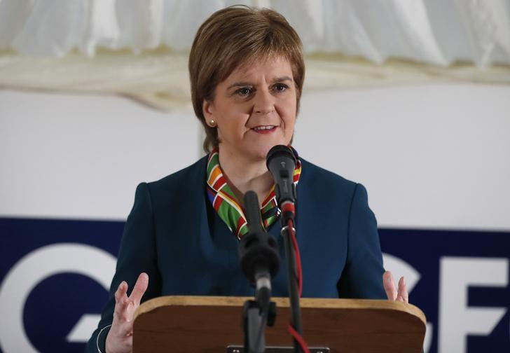 Scotland's First Minister Nicola Sturgeon attends the completion of a 330 million pound deal to buy Britain's last remaining Aluminium smelter in Fort William Lochaber Scotland, Britain December 19, 2016. REUTERS/Russell Cheyne