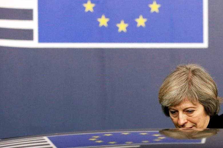 Britain's Prime Minister Theresa May leaves a EU Summit in Brussels, Belgium December 15, 2016.   REUTERS/Yves Herman