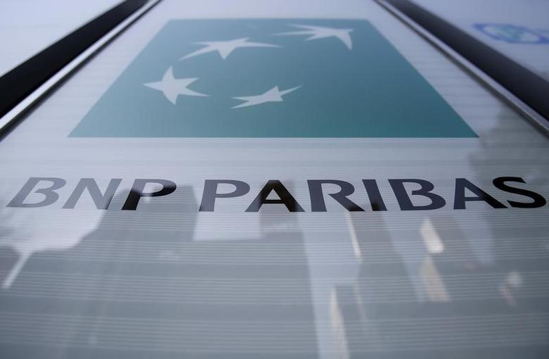A logo of BNP Paribas is seen outside its Tokyo headquarters, Japan, January 7, 2016.  REUTERS/Yuya Shino/File Photo