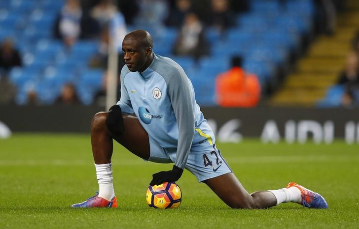 Britain Football Soccer - Manchester City v Watford - Premier League - Etihad Stadium - 14/12/16 Manchester City's Yaya Toure warms up before the game Reuters / Phil Noble Livepic