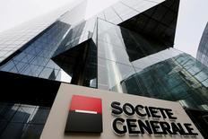 Société générale a annoncé mercredi un accord pour céder sa filiale croate Splitska Banka au groupe hongrois OTP Bank. /Photo d'archives/REUTERS/Gonzalo Fuentes