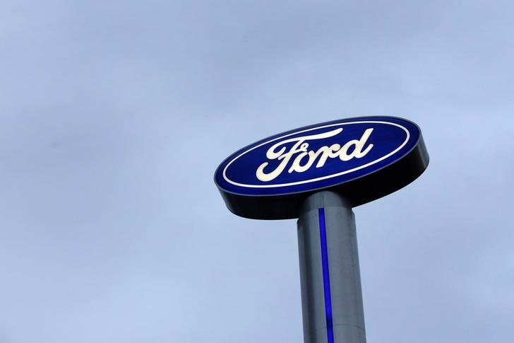 A Ford logo is pictured at a car dealership in Monterrey, Mexico, November 9, 2016. Picture taken November 9, 2016. REUTERS/Daniel Becerril/Files