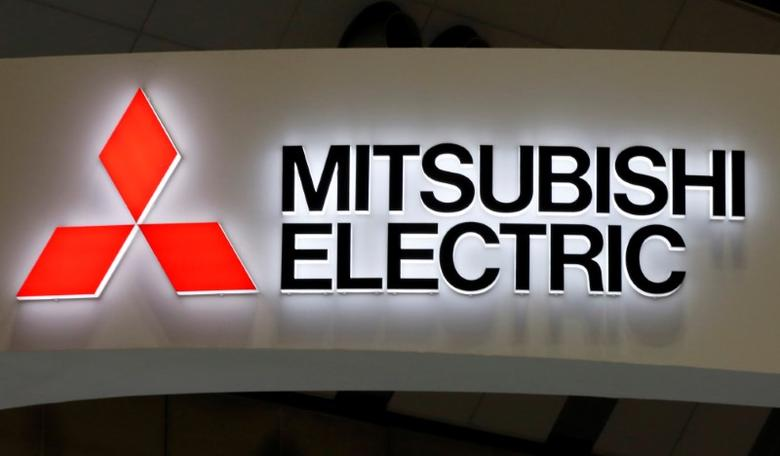 A logo of Mitsubishi Electric Corp is pictured at the 28th Japan International Machine Tool Fair in Tokyo, Japan, November 17, 2016. REUTERS/Toru Hanai