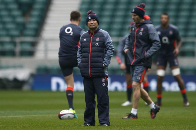 England head coach Eddie Jones during training. England Training - Twickenham Stadium - 2/12/16.  Action Images via Reuters / Andrew Boyers Livepic