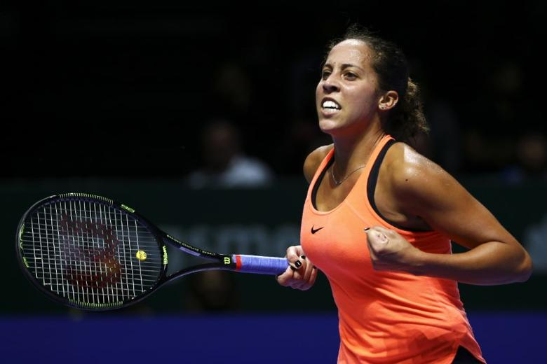 USA's Madison Keys celebrates during her round robin matchMandatory Credit: Action Images / Yong Teck Lim