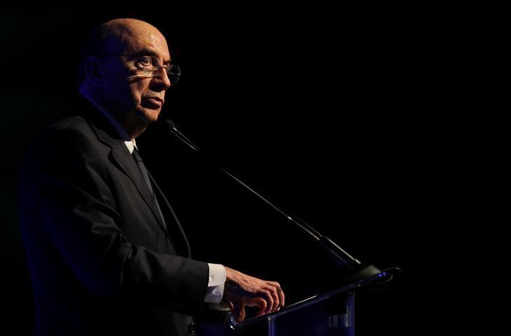 Brazil's Finance Minister Henrique Meirelles speaks at a lunch meeting with bankers in Sao Paulo, Brazil December 12, 2016. REUTERS/Paulo Whitaker