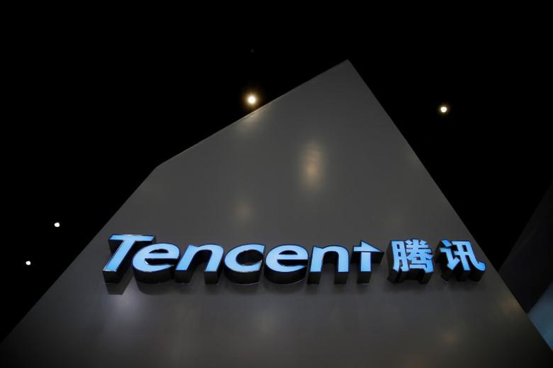 A sign of Tencent is seen during the third annual World Internet Conference in Wuzhen town of Jiaxing, Zhejiang province, China November 16, 2016. REUTERS/Aly Song