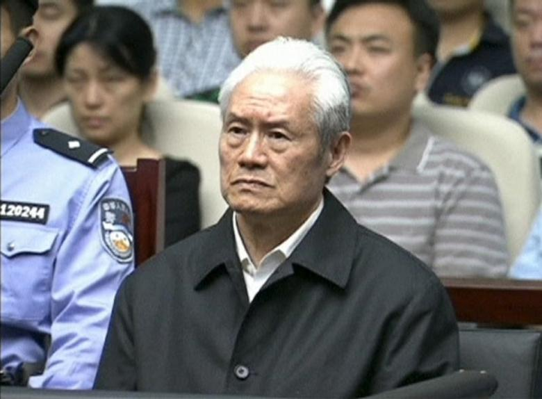 Zhou Yongkang, China's former domestic security chief, attends his sentence hearing in a court in Tianjin, China, in this still image taken from video provided by China Central Television and shot on June 11, 2015. REUTERS/China Central Television via REUTERS TV
