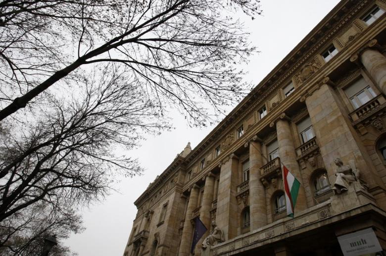 The National Bank of Hungary building is seen in Budapest, January 18, 2012. REUTERS/Bernadett Szabo
