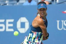 Aug 30, 2016; New York, NY, USA; Ana Ivanovic of Serbia returns a shot to Denisa Allertova of the Czech Republic on day two of the 2016 U.S. Open tennis tournament at USTA Billie Jean King National Tennis Center.   Anthony Gruppuso-USA TODAY Sports