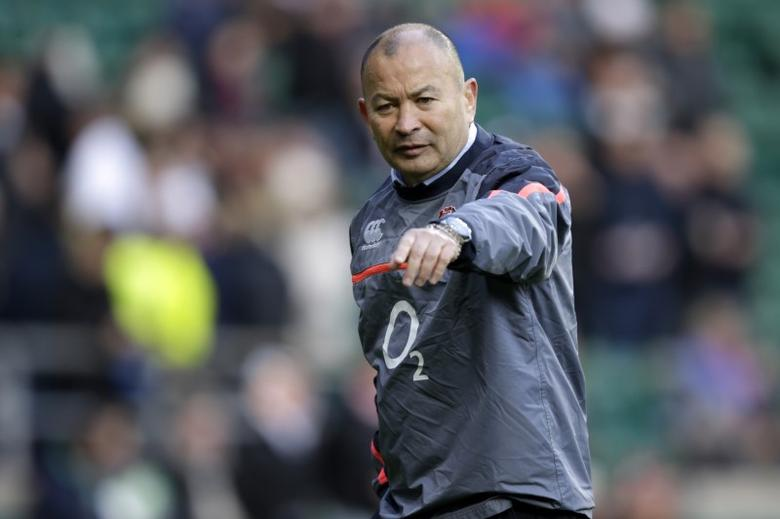 Britain Rugby Union - England v Australia - 2016 Old Mutual Wealth Series - Twickenham Stadium, London, England - 3/12/16 England head coach Eddie Jones gestures during the warm up.  Action Images via Reuters / Henry Browne Livepic/Files