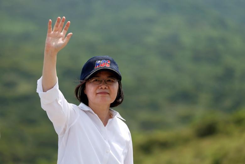 Taiwanese President Tsai Ing-wen   in Pingtung county, southern Taiwan August 25, 2016. REUTERS/Tyrone Siu