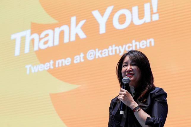 Kathy Chen speaks at a forum in Shanghai, October 18, 2016.  REUTERS/Stringer