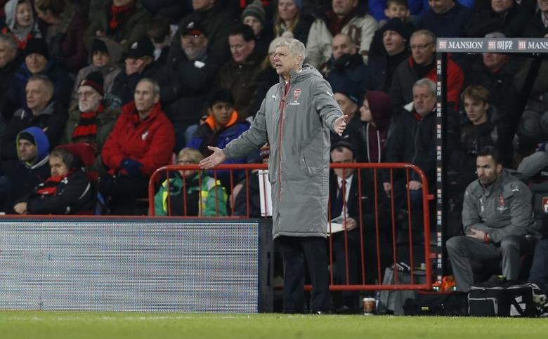 Britain Football Soccer - AFC Bournemouth v Arsenal - Premier League - Vitality Stadium - 3/1/17 Arsenal manager Arsene Wenger  Action Images via Reuters / Matthew Childs Livepic