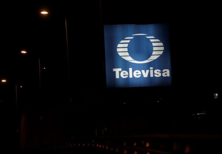 The logo of broadcaster Televisa is seen outside its headquarters in Mexico City, Mexico December 14, 2016. REUTERS/Henry Romero