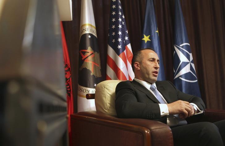 Ramush Haradinaj speaks during an interview with Reuters at the AAK headquarters in Pristina December 4, 2012. REUTERS/Hazir Reka