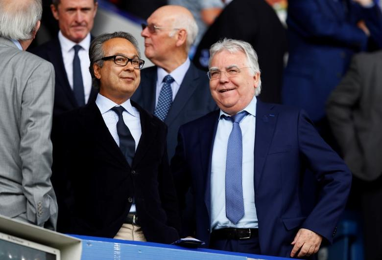 Britain Football Soccer - Everton v Tottenham Hotspur - Premier League - Goodison Park - 13/8/16Everton owner Farhad Moshiri and chairman Bill Kenwright in the stands before the matchAction Images via Reuters / Jason CairnduffLivepic/Files