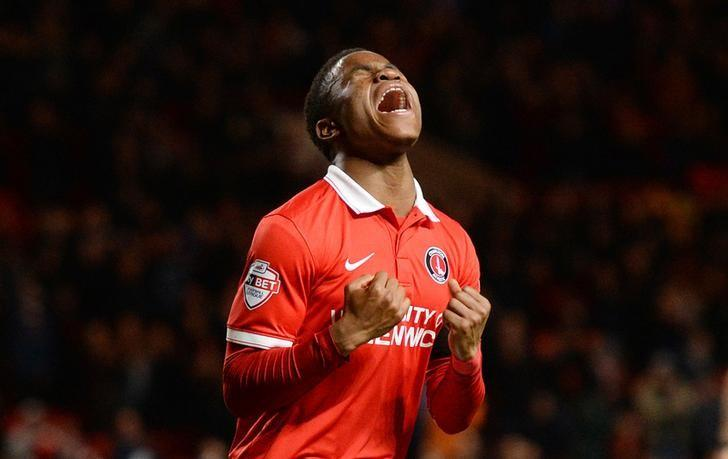 Football Soccer - Charlton Athletic v Bolton Wanderers - Sky Bet Football League Championship - The Valley - 15/12/15Charlton's Ademola Lookman celebrates scoring their second goalMandatory Credit: Action Images / Tony O'BrienLivepic/files