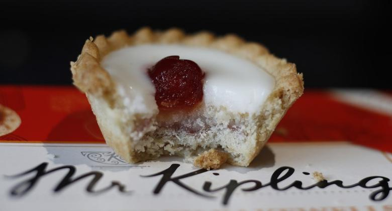 A Mr Kipling Cherry Bakewell is seen in this illustration taken March 30, 2016.  REUTERS/Phil Noble/Illustration