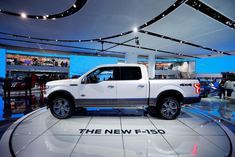 A 2018 Ford F-150 ''King Ranch'' pickup truck is displayed during the North American International Auto Show in Detroit, Michigan, U.S., January 10, 2017.  REUTERS/Mark Blinch