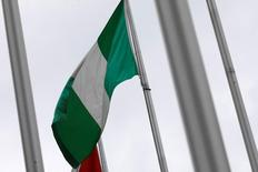 A Nigerian flag is seen outside Nigeria Trade Office after Nigerian request to Taiwan to relocate its representative office in the African country, in Taipei, Taiwan January 12, 2017. REUTERS/Tyrone Siu