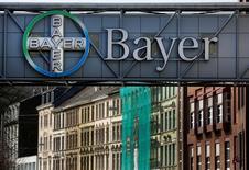 """Les responsables de Bayer et de Monsanto, qui sollicitent l'approbation des autorités américaines pour leur projet de fusion de 66 milliards de dollars, ont eu une réunion """"constructive"""" avec le président élu Donald Trump, a déclaré le groupe chimique et pharmaceutique allemand. /Photo d'archives/REUTERS/Ina Fassbender"""
