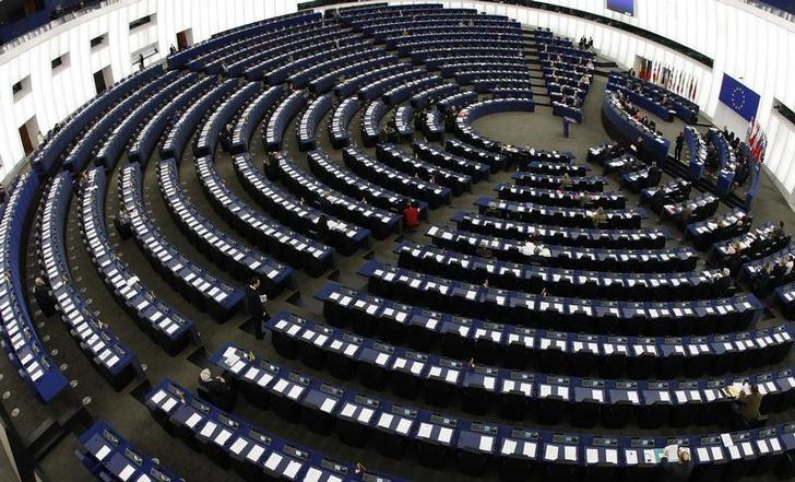 General view of the European Parliament's plenary room in Strasbourg March 11, 2009.  REUTERS/Vincent Kessler/Files