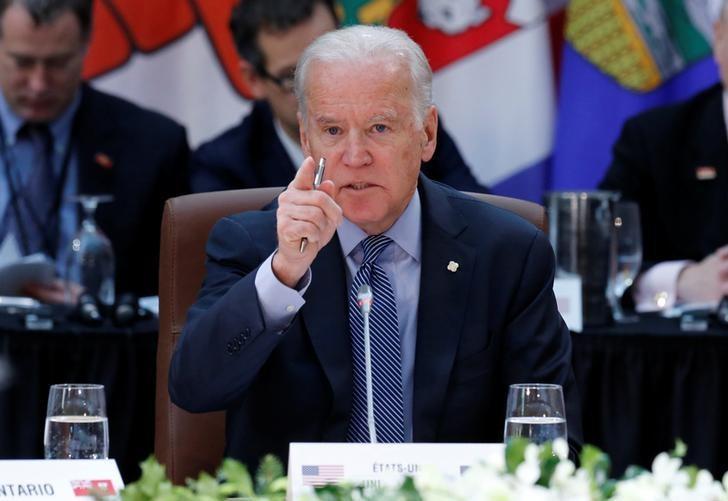 U.S. Vice President Joe Biden speaks during the First Ministers' meeting in Ottawa, Ontario, Canada, December 9, 2016. REUTERS/Chris Wattie/Files