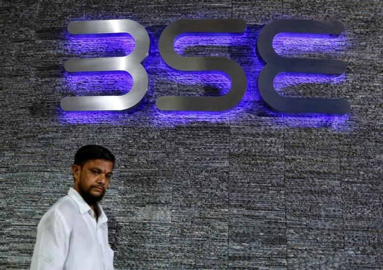 A man walks out of the Bombay Stock Exchange (BSE) building in Mumbai, India June 20, 2016. REUTERS/Danish Siddiqui - RTX2H4NB/Files