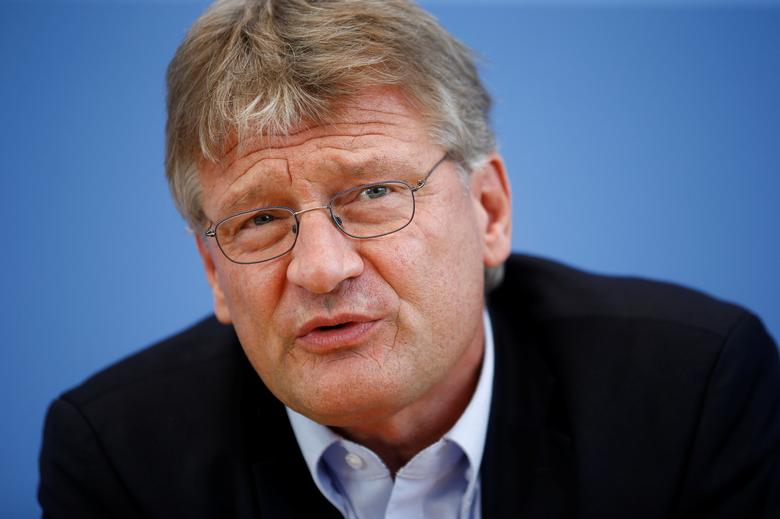 Anti-immigration party Alternative for Germany (AfD) leader Joerg Meuthen addresses a news conference at the Bundespressekonferenz in Berlin, Germany, September 19, 2016.    REUTERS/Axel Schmidt/File Photo