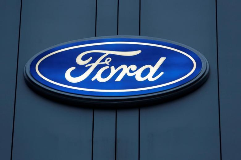 A Ford logo is pictured on a wall of a car dealership in Monterrey, Mexico, November 9, 2016. Picture taken November 9, 2016. REUTERS/Daniel Becerril