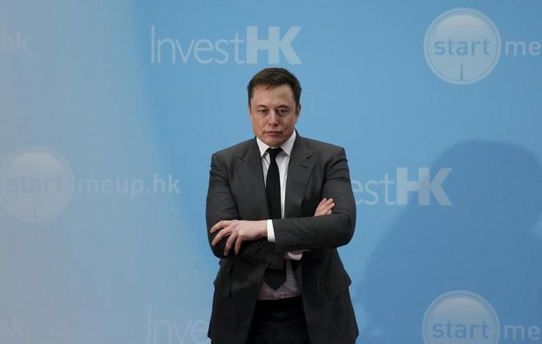 Tesla Chief Executive Elon Musk in Hong Kong, China January 26, 2016.      REUTERS/Bobby Yip