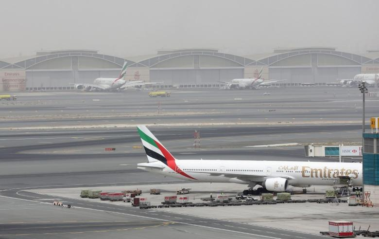 A general view shows Dubai International Airport after an Emirates Airline flight crash-landed, the UAE August 3, 2016. REUTERS/Stringer