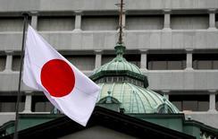A l'issue de la réunion de son comité de politique monétaire, la BoJ a maintenu comme attendu son objectif de taux à court terme de -0,1% et son objectif de rendement obligataire à dix ans proche de zéro. /Photo prise le 21 septembre 2016/REUTERS/Toru Hanai