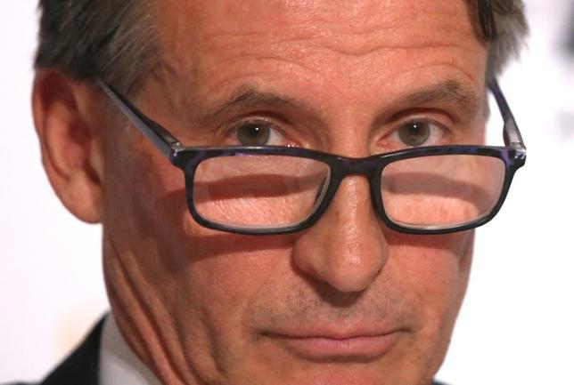 1月31日、国際陸連(IAAF)のセバスチャン・コー会長は、英議会のドーピング調査に関する委員会での過去の公聴会で、事実と異なる発言をしたとする嫌疑を否定した。2016年12月撮影(2017年 ロイター/Eric Gaillard)