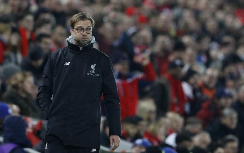 Britain Football Soccer - Liverpool v Chelsea - Premier League - Anfield - 31/1/17 Liverpool manager Juergen Klopp  Reuters / Phil Noble Livepic